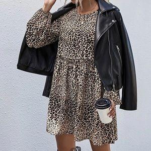 Leopard Print Smoke Dress